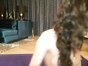 Skinny Chick Plays with Dildo in Her Ass