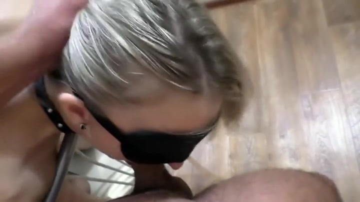 Hot blonde wife blindfolded and fucked in the ass